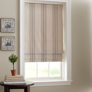 Vintage French Ticking Is Ideal For Making Roman Blinds Roman Shades French Doors Pottery Barn Roman Shades Roman Shades