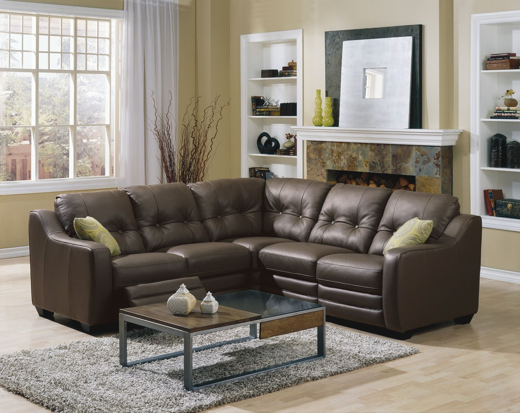 Cambo leather sectional seating | Small sectional sofa ...
