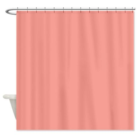 Solid Salmon Pink Shower Curtain