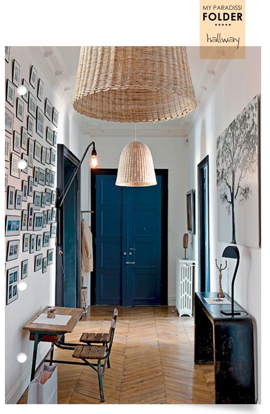in blu Rincones Pinterest Hallway designs, Interiors and Hall