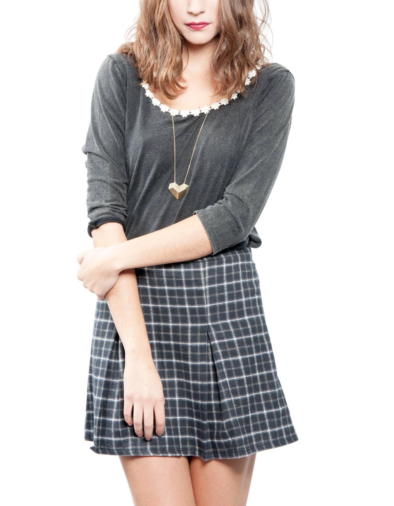 Camiseta manga 3/4 escote crochet Double Agent 19,99€ www.doubleagent.es  #fashion #trends #clothes