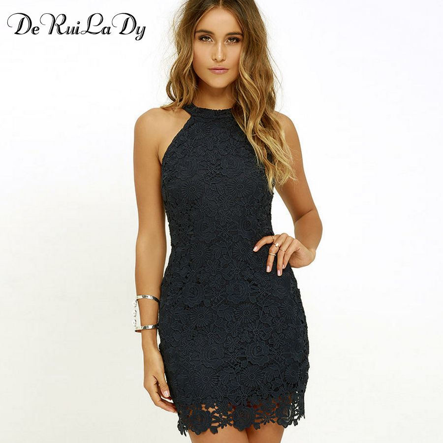 Deruilady women casual dress elegant wedding party sexy night club