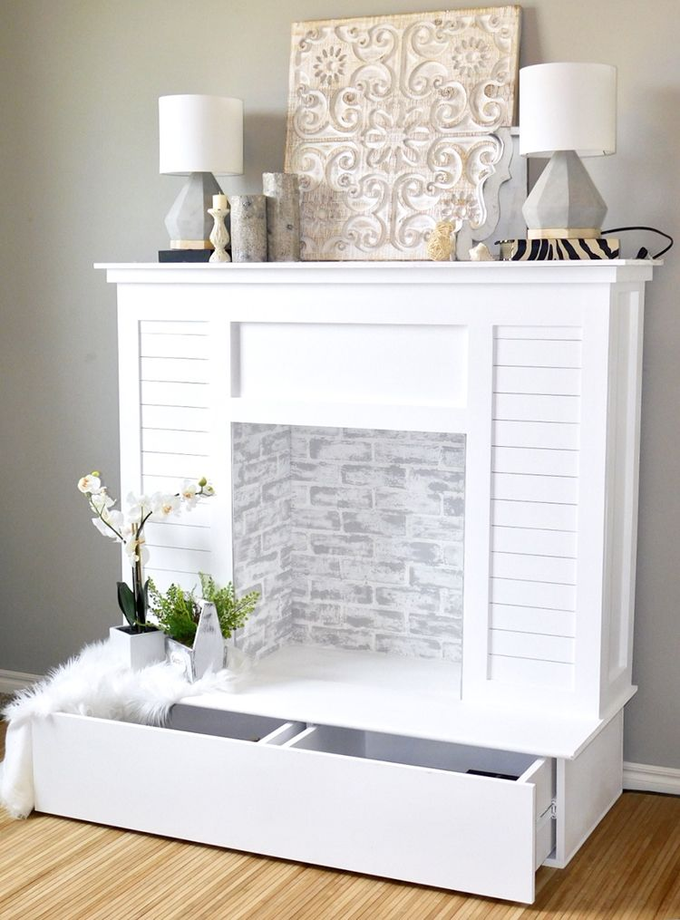 Stunning Look-Alike: 10 DIY Faux Fireplaces That Look Like the Real Deal