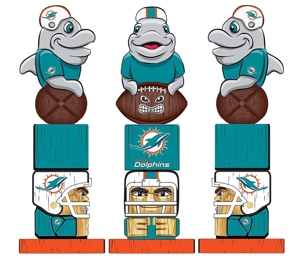 Miami Dolphins Tiki Totem 2018 Tiki totem, Miami