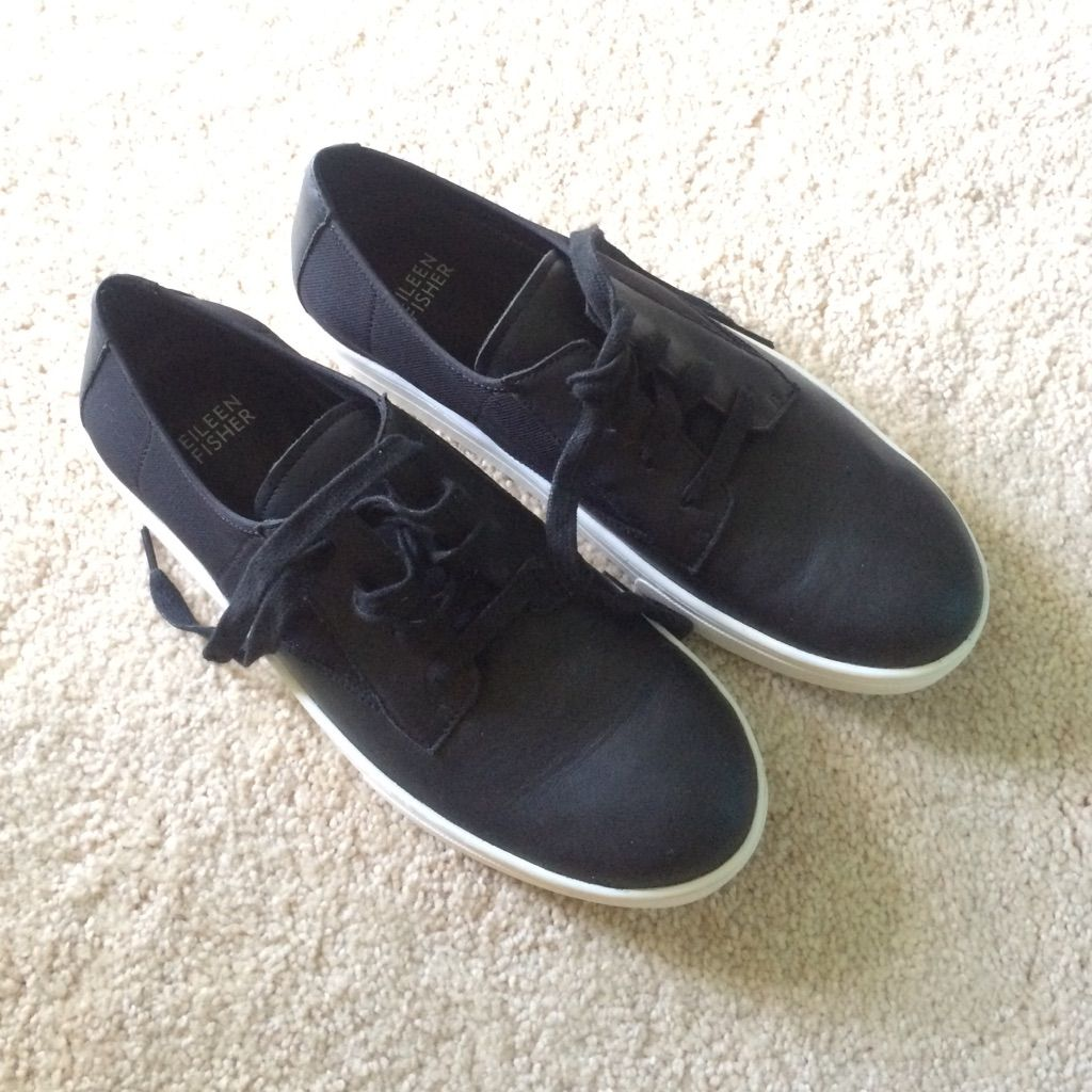Eileen Fisher Low Leather Top Shoes