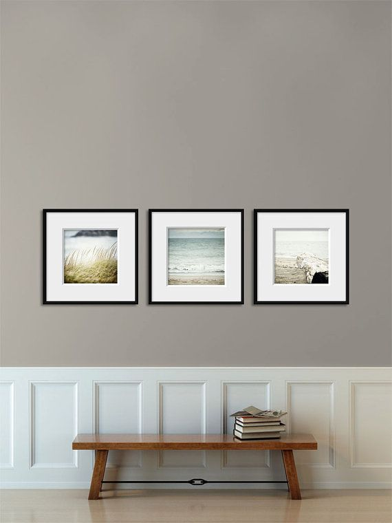 beach decor set for ikea ribba set of 3 blue beach prints for ribba frames square prints beach wall art ocean art pastel blue decor by