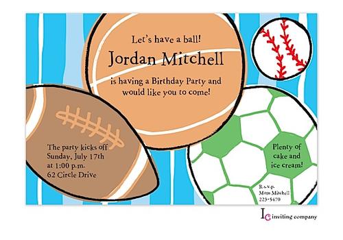 Sports balls invitation inviting company sports balls invitation football soccer baseball basketball use this stopboris Gallery