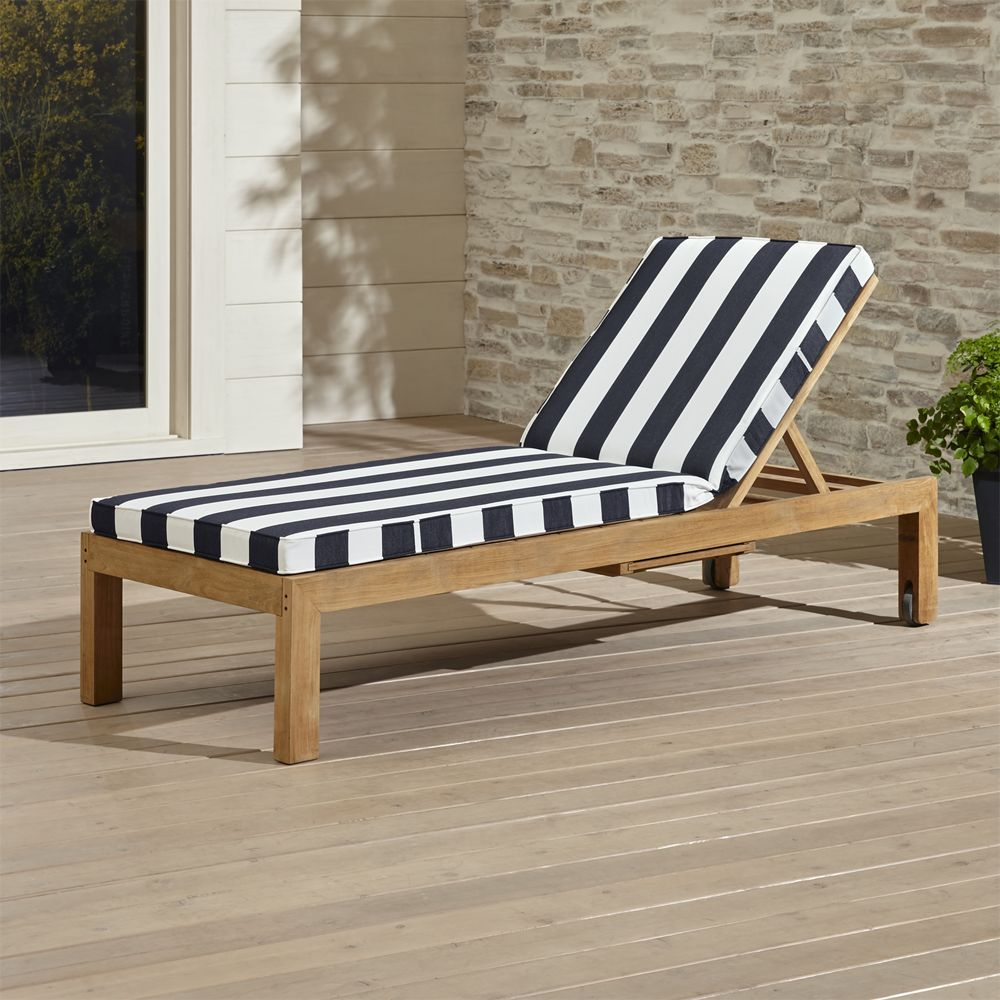 Outdoor living · regatta chaise lounge with sunbrella cushion crate and barrel sunbrella cushions lounge chair