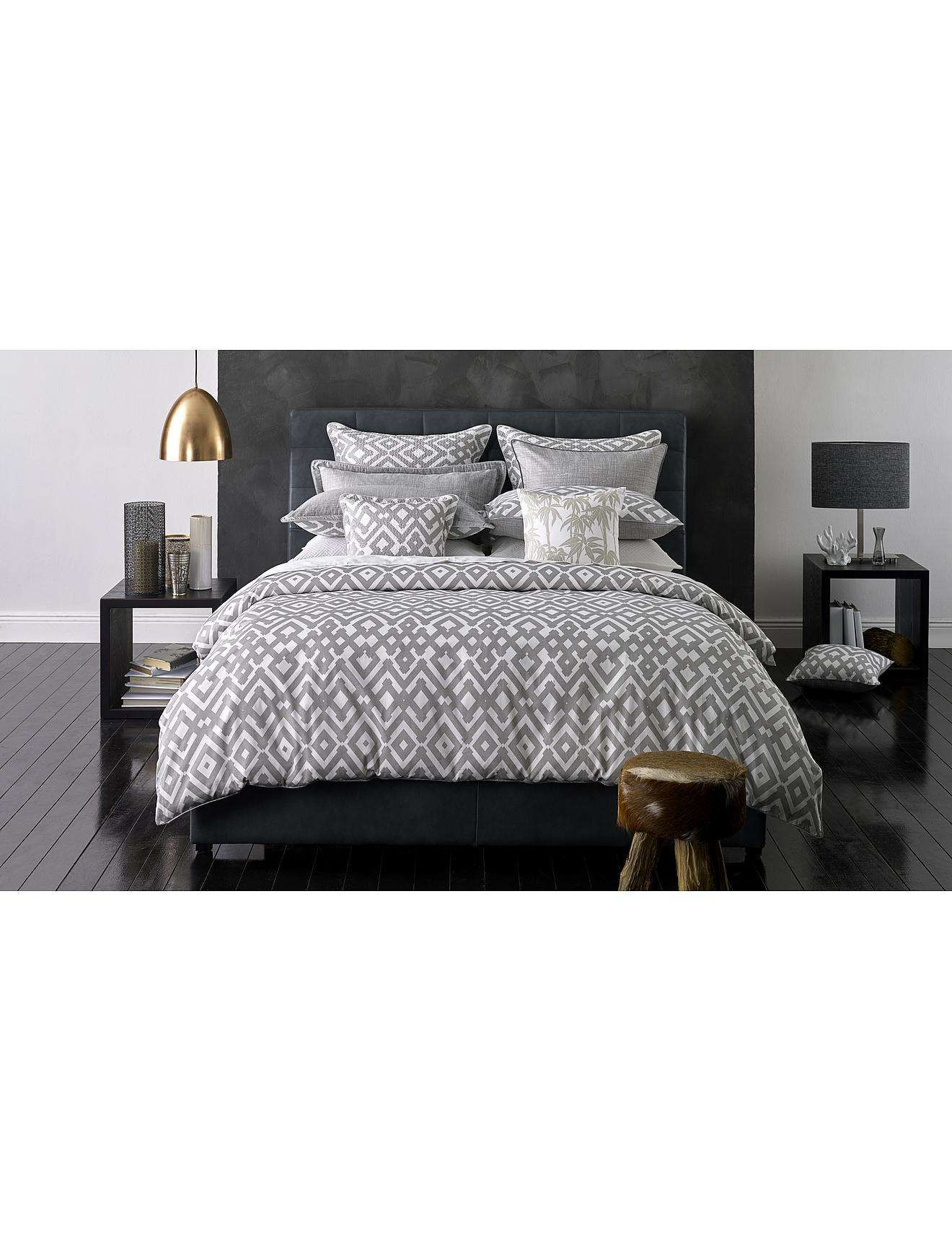 Zig Zag Natural Quilt Cover Set Queen | David Jones | Home ... : quilt cover sets david jones - Adamdwight.com