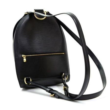 Vintage 90s Louis Vuitton Mabillon Black Epi Leather Backpack Bag