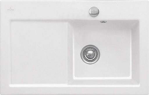 Villeroy  Boch Subway 45 flat Weiß glanz Keramik flächenbündige - spülbecken küche keramik