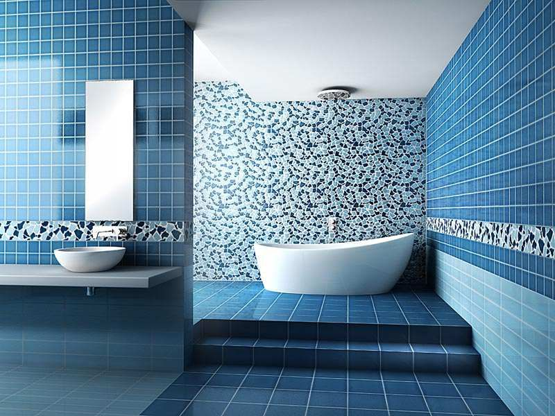 15 Amazing Bathroom Wall Tile Ideas And Designs Blue Bathroom Interior Bathroom Wall Tile Blue Bathroom Tile