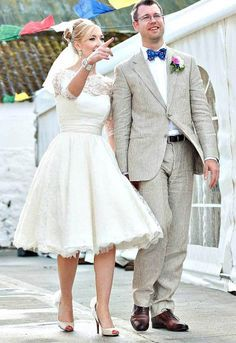 50s Style Wedding Dress With Trainers Google Search Short Lace Wedding Dress Knee Length Wedding Dress Long Sleeve Wedding Dress Lace