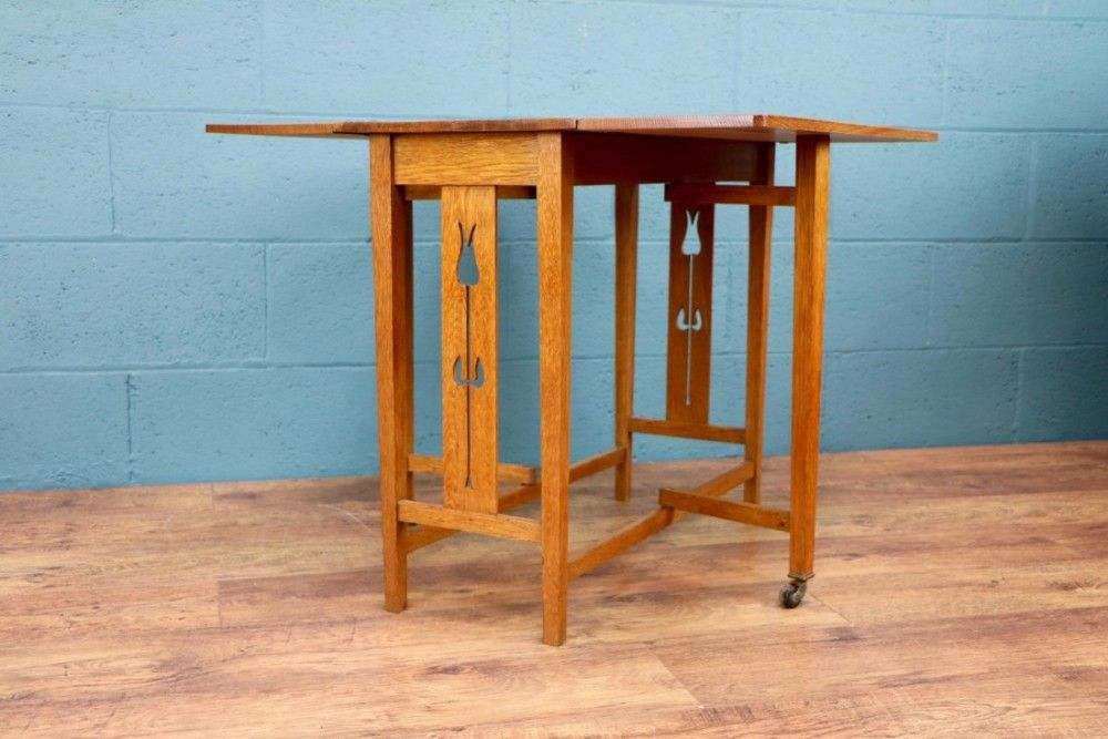 Arts and crafts drop leaf table arts and crafts