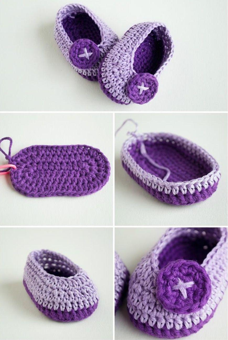 Crochet Baby Booties Pattern Lots of The Sweetest Idea | Pinterest ...