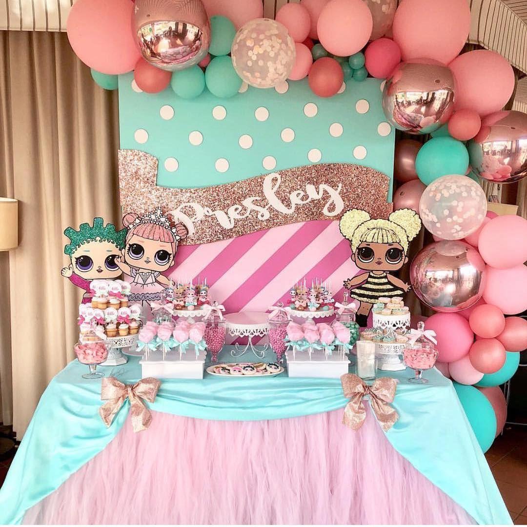 Fiesta de cumpleaños Muñecas LOL para un festejo de niña   Pinterest ...