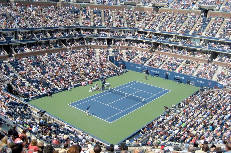 U S Open Tennis Match Tennis Open Us Open Stadium