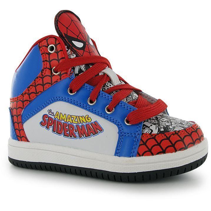 Baskets Lacets Marvel À Hauts À Spiderman Lacets Enfants Enfants 8ZxxIgTqw