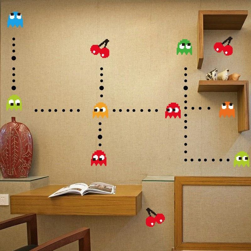 Pacman Wall Stickers Pacman Pacmanparty Packmandecorations Pacmanbackdrop Pacmanbirthday Sticker Wall Art Cheap Wall Stickers Wall Stickers Cartoon