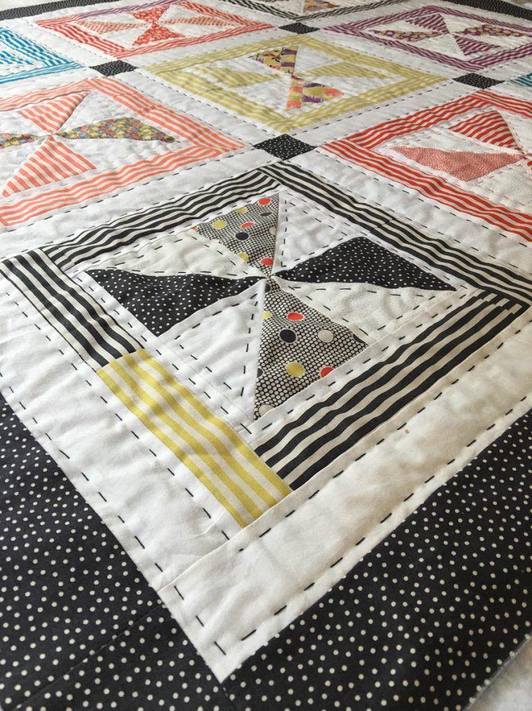 Big stitch quilt by julianna pope quilt big hand