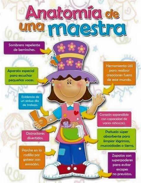 Anatomía de una maestra ~ Educación Preescolar | Tarjetas Dia ...