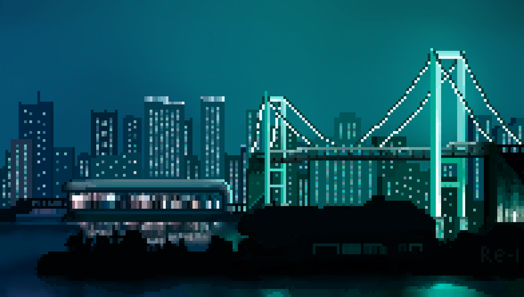 Night city PixelArt in 2020 Night city, Pixel city