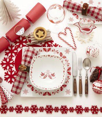 Selina Lake Stylist Tableware From Tesco Christmas Table Decorations Christmas Table Scandinavian Christmas