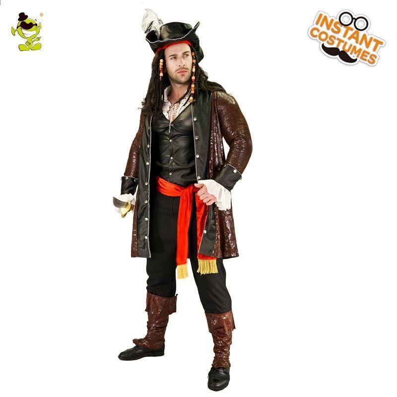 Luxusní pirátské pánské kostýmy Halloween Party Cosplay Performance  oblečení kostýmy Piráti pro kostýmy Halloween Party a1f317a273