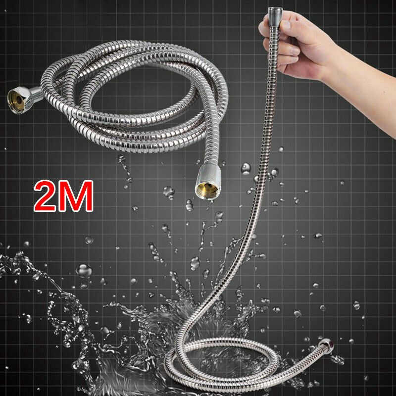 Shower Head Hose Handheld Extra Long Stainless Steel Bathroom Flexible 2m Showers Ideas Of Sho Shower Head With Hose Stainless Steel Bathroom Shower Heads