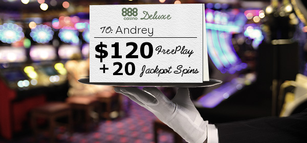 Your Personalised 120 Luxury Freeplay Voucher At 888 Casino