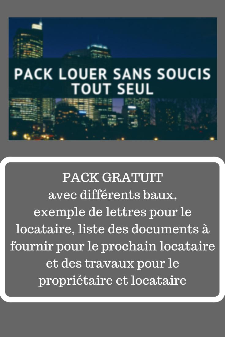 PACK GRATUIT BAILLEUR | Investissement, Exemple de lettre ...