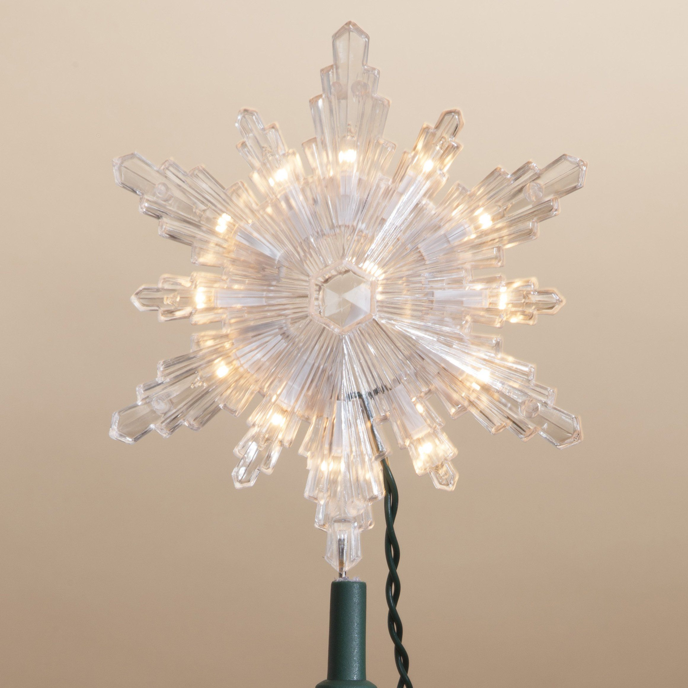 7.5 Inch Tall Starburst Clear Acrylic Tree Topper -- Awesome ...