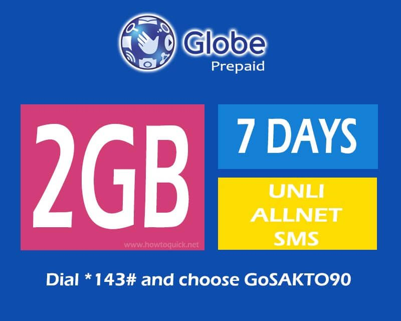 Globe Gosakto90 7 Days Internet Promo How To Memorize Things Sms Day
