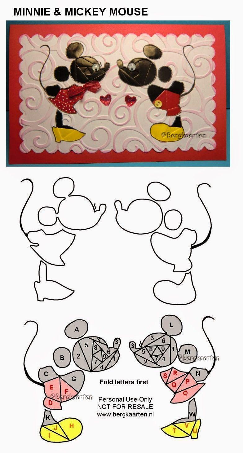 Irisvouwen: Minnie & Mickey Mouse