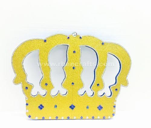 969f4217e Corona grande de fomi en color dorado y diamantes de imitación azul para  presentación de 3