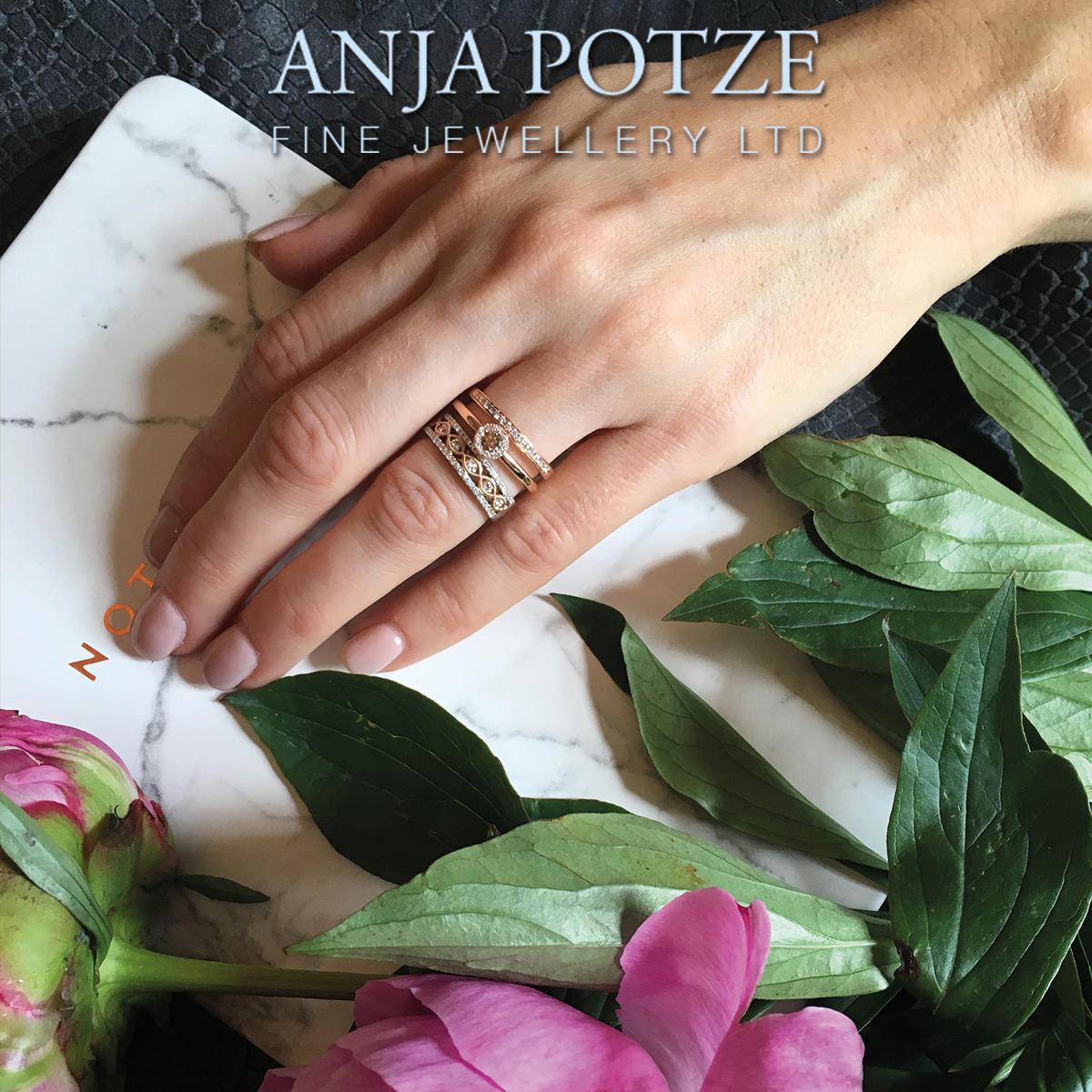 A match made in heaven! #AnjaPotze #finejewellery #10FriarStreet #weddingrings