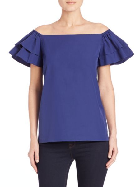 Alice and Olivia - Loryn Off-The-Shoulder Top