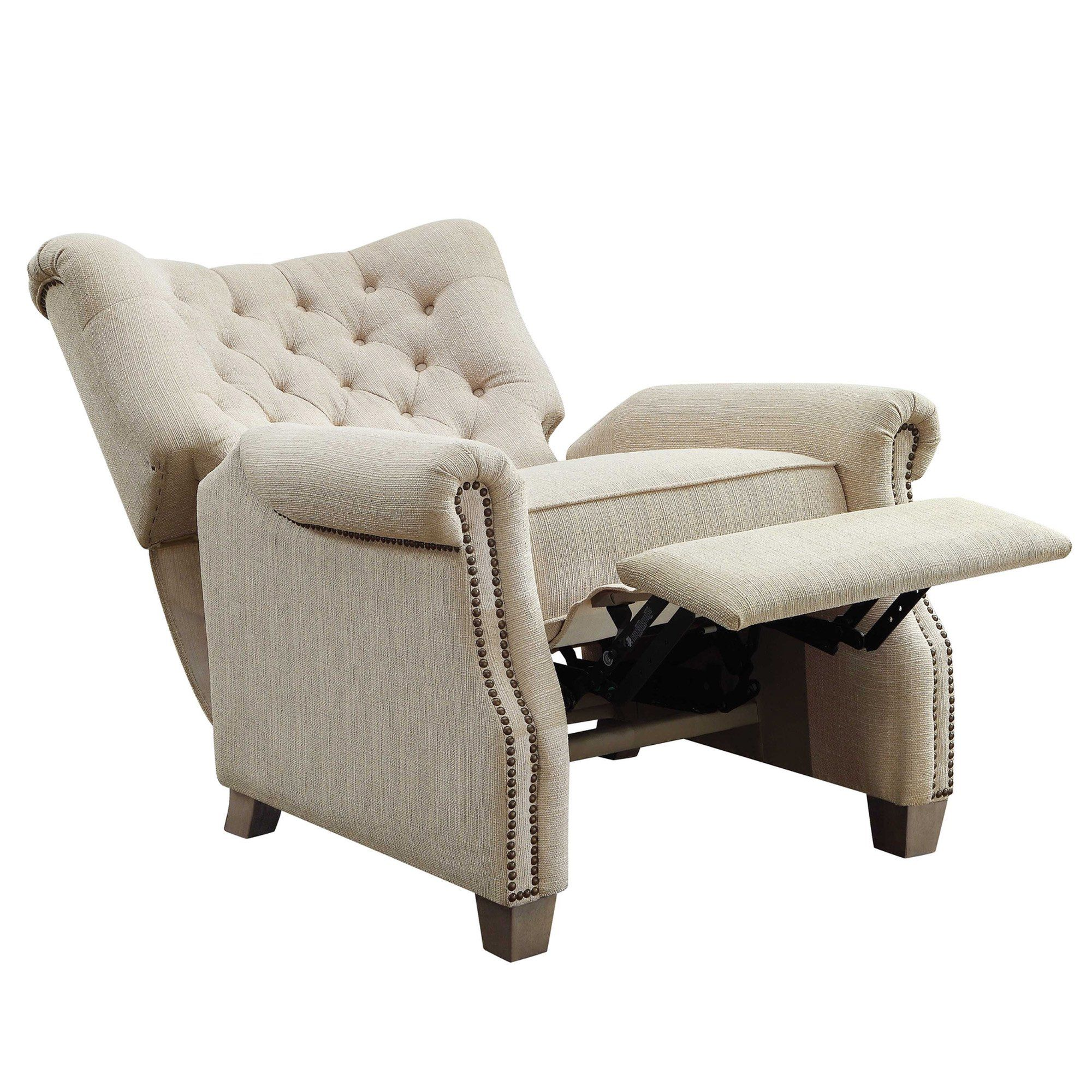 Better Homes and Garden Tufted Push Back Recliner, Beige