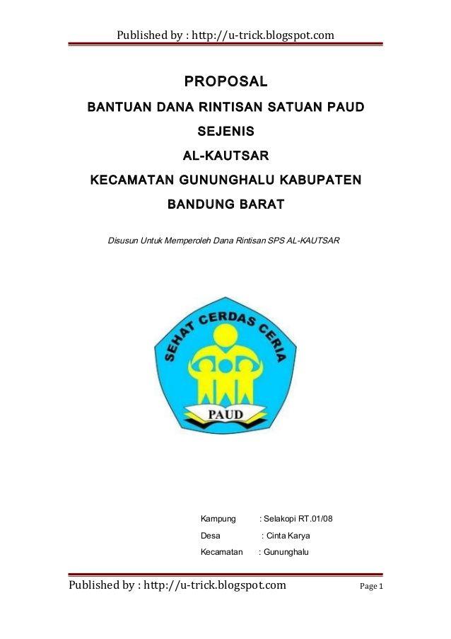 Published By Http U Trick Blogspot Com Proposal Bantuan Dana