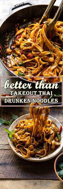 better than takeout thai drunken noodles dengan gambar