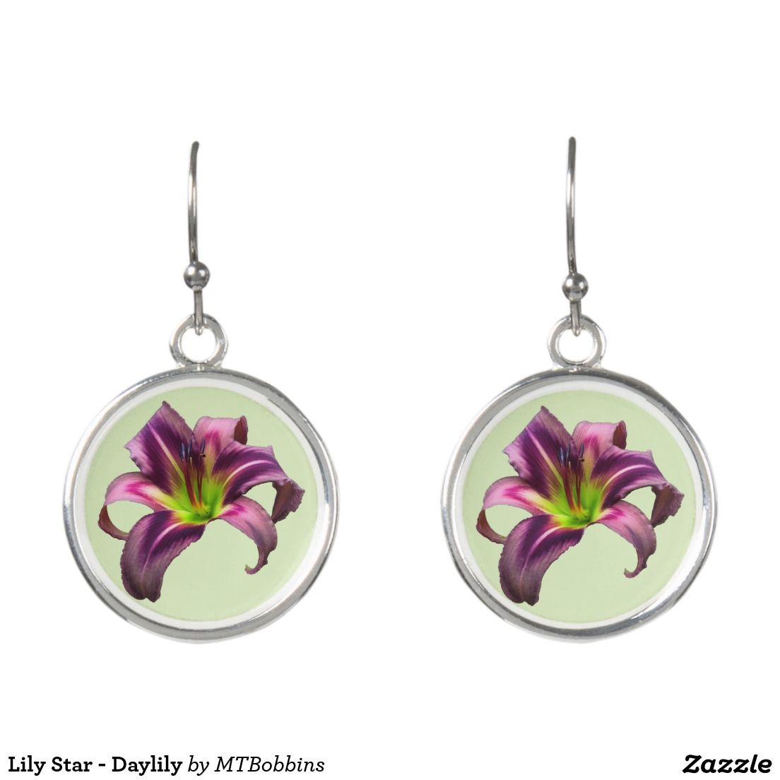 Lily Star - Daylily Earrings