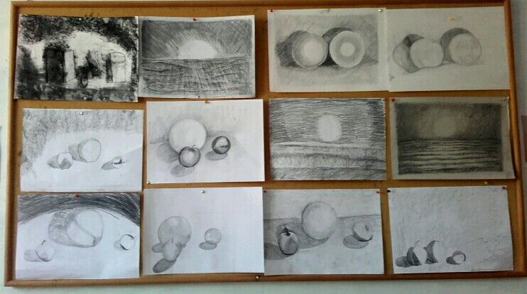6th grade waldorf b&w drawings