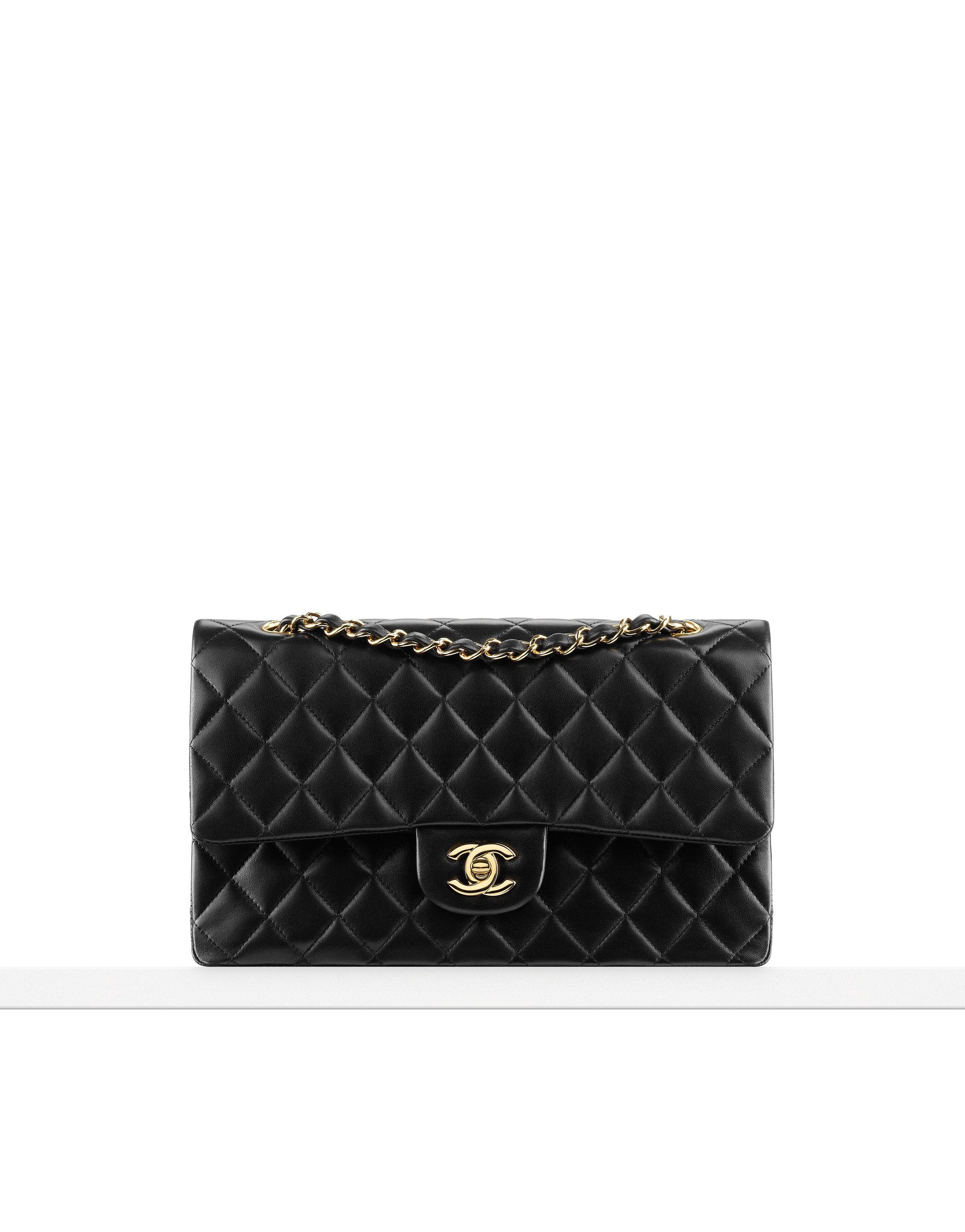 Sac Classique Timeless Moyen En Agneau Matelasse Chanel 3 3