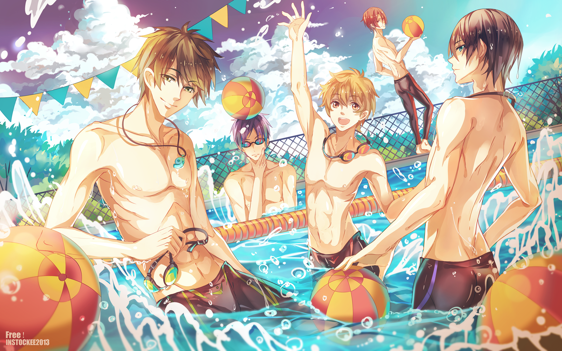 Free Iwatobi Swim Club Anime HD Wallpaper