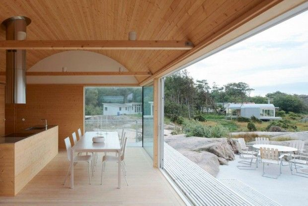 Contemporary Round Roof Summer Houses