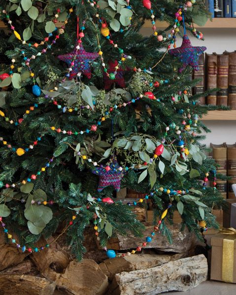 Festive Paper Bead Garland by Noonday Collection. Perfect for a Fiesta Christmas  tree. - Festive Paper Bead Garland By Noonday Collection. Perfect For A