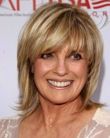 great layered and feathered hairstyle linda gray pinteres