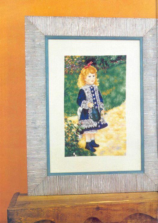 Gallery.ru / Фото #81 - Cuadros 42 - tymannost  Renoir - Girl in a Blue Dress
