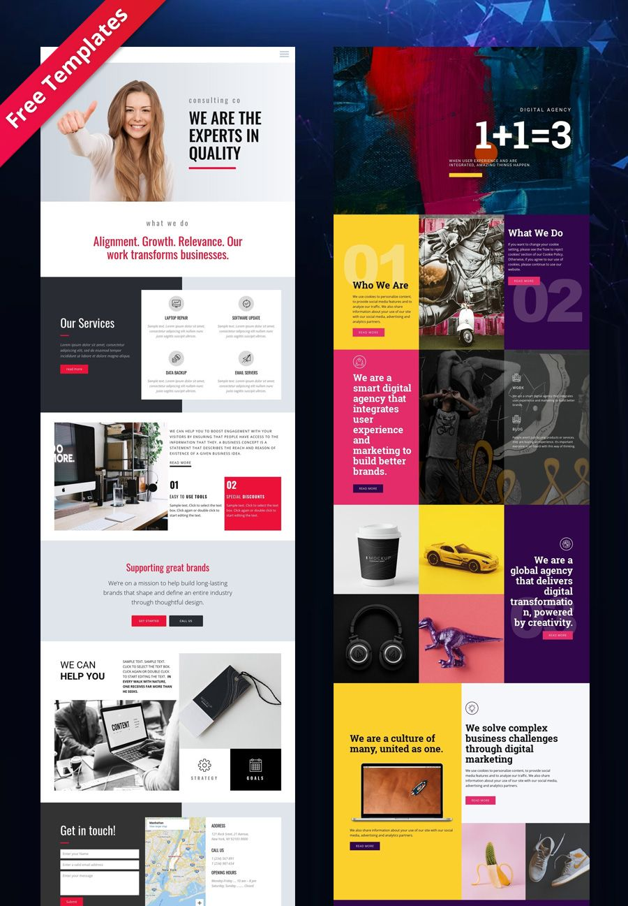 Free Templates By Nicepage Builder In 2020 Corporate Website Design Corporate Web Design Website Design