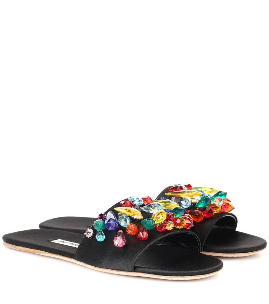Miu Miu Embellished slides sfnIn3g9It
